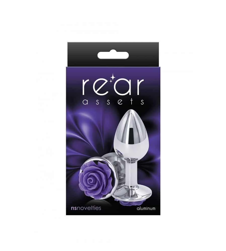 Rear Assets Rose Purple Small - analni plug, 7.6 cm