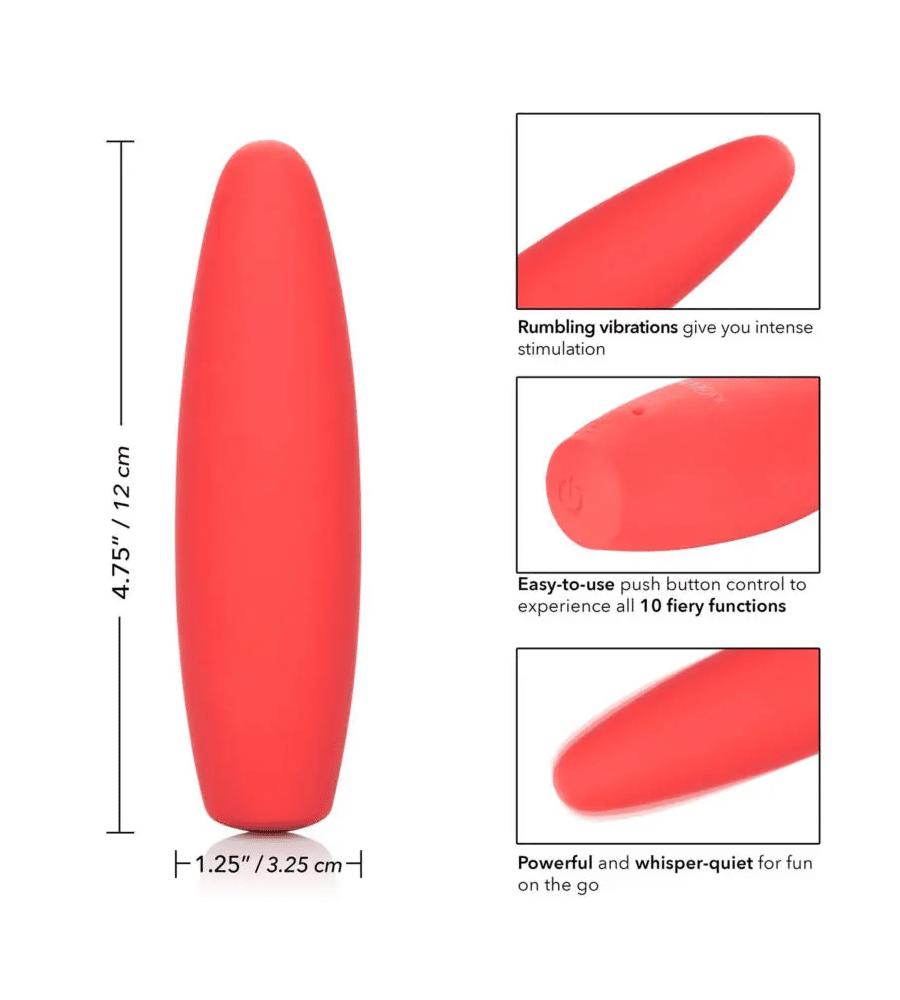 Red Hot Flame - klitoralni masažer, 12 cm
