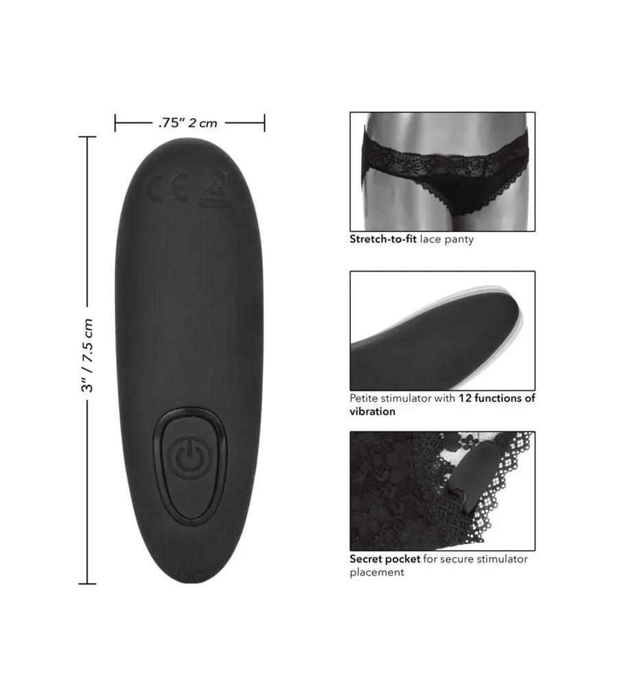 Remote Control Lace Panty - stimulator klitorisa +gaćice