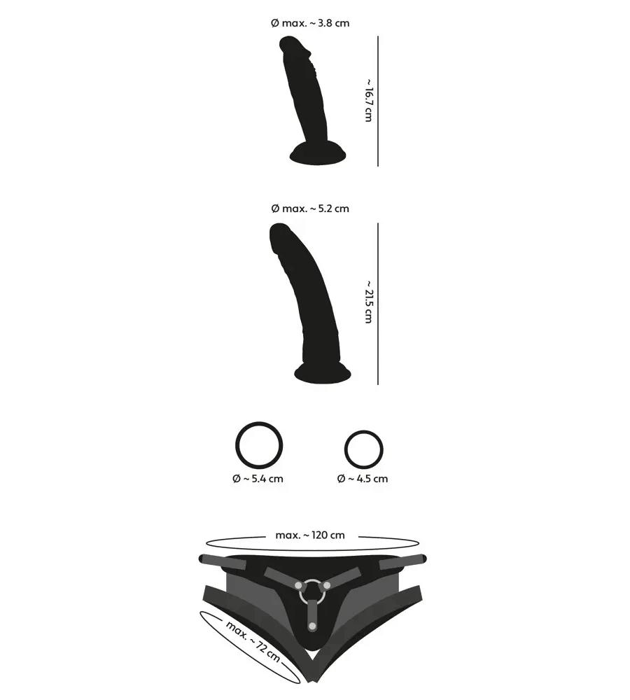 You2Toys Strap-On Kit - strap-on pojas s dva dilda