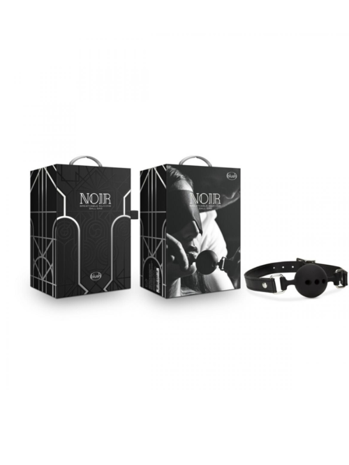Noir Breathable Silicone Ball Gag - kuglica za usta