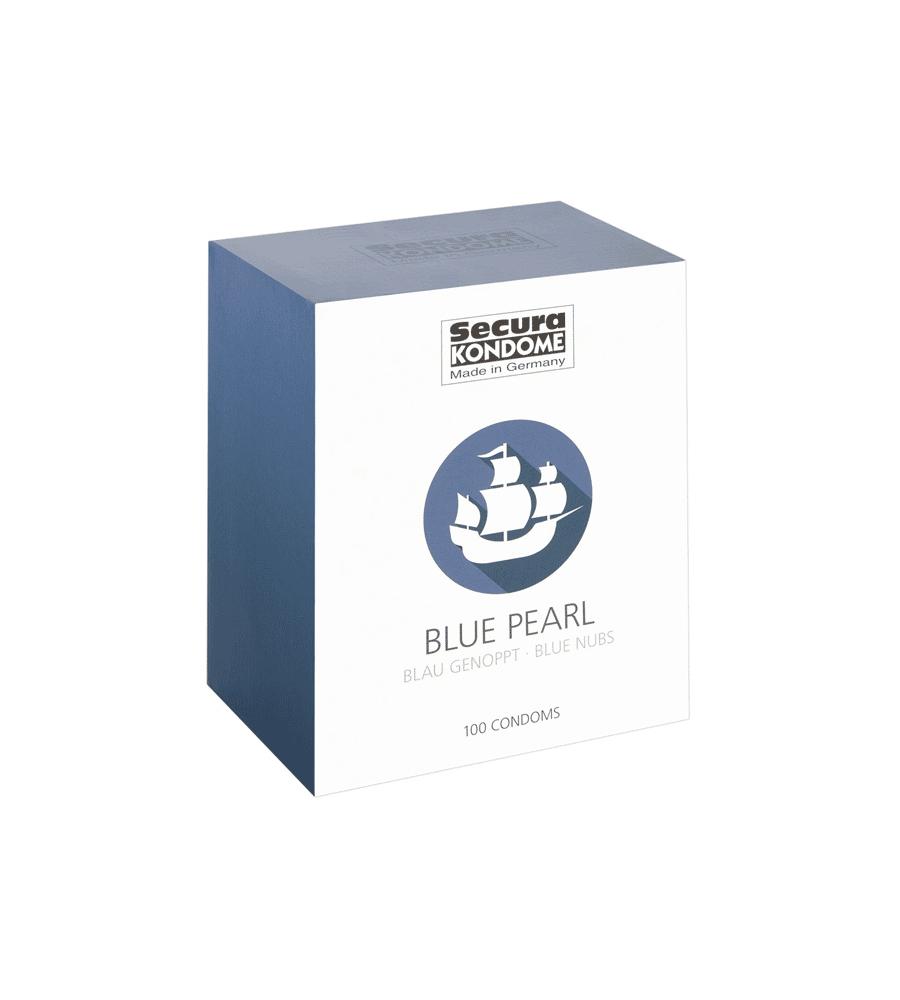 Secura Blue Pearl - plavi perlasti prezervativi, 1 kom